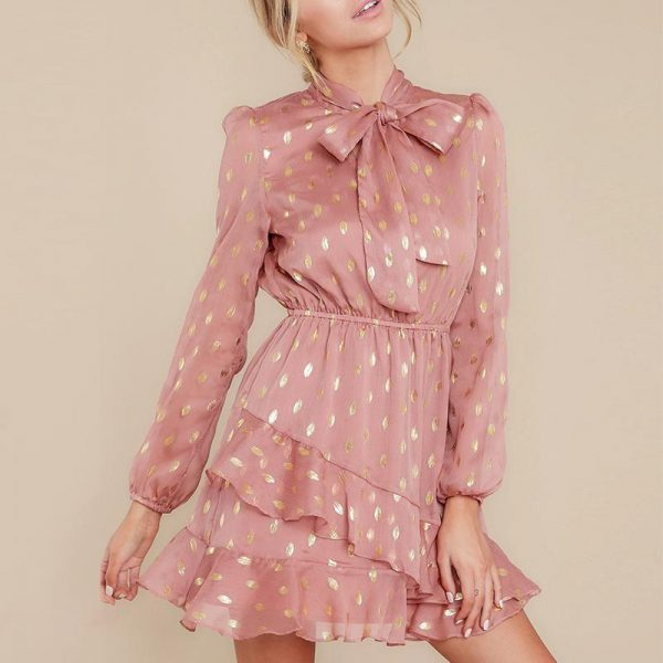 Dress With Long Bohemian Sleeve Short