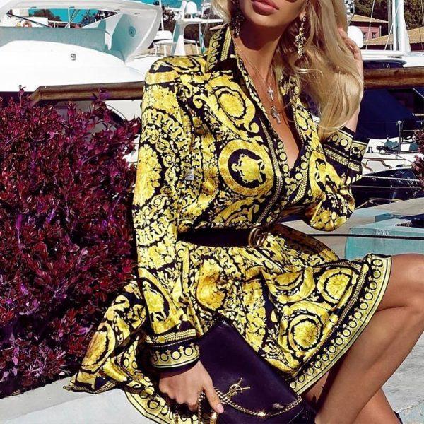 Esprit Chic Printed Short Dress
