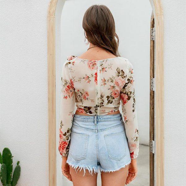 Hippie Style Flowery Top
