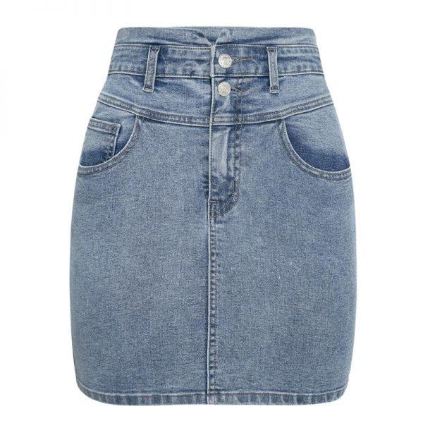 Hippie Short Jean Skirt