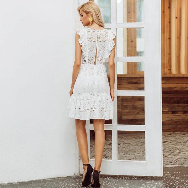 White Bohemian Summer Dress