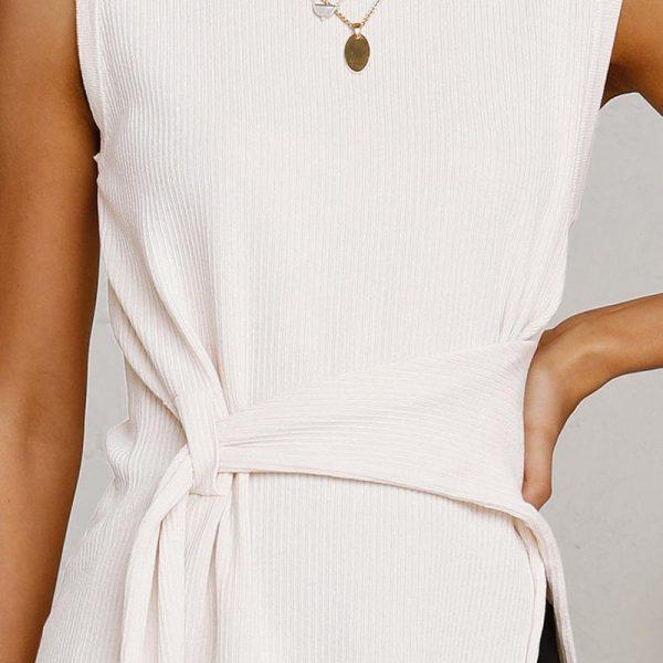 White Bohemian Sleeveless Top