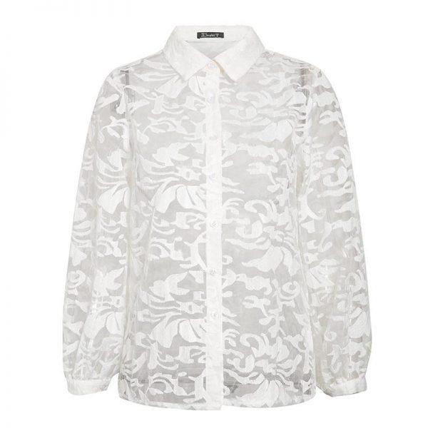Bohemian Blouse White Transparent
