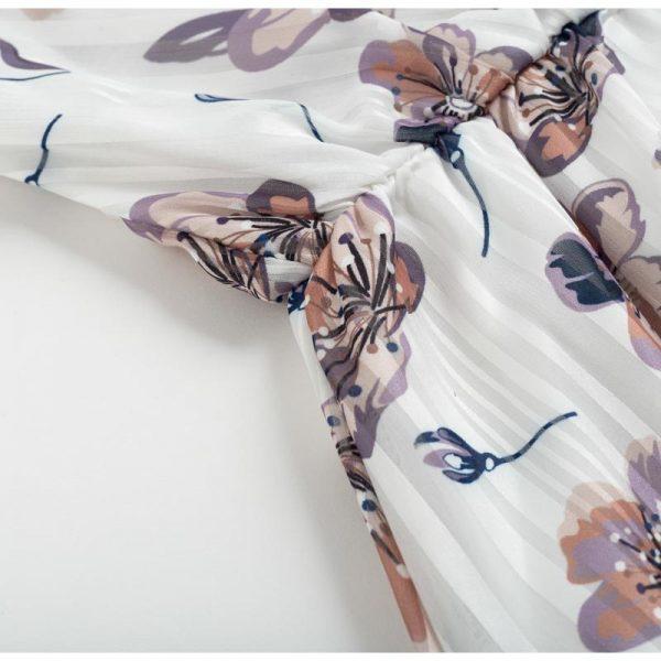 Bohemian Floral Long Sleeve Dress