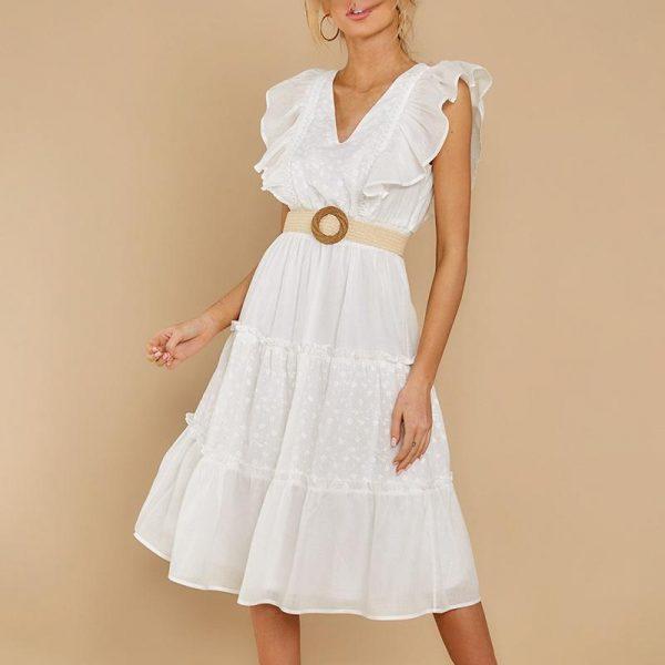 Little White Bohemian Dress