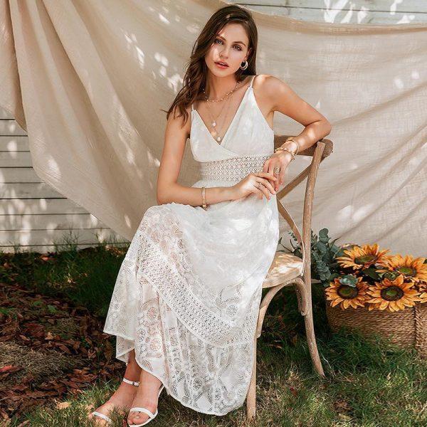 Bohemian Lace Wedding Dress