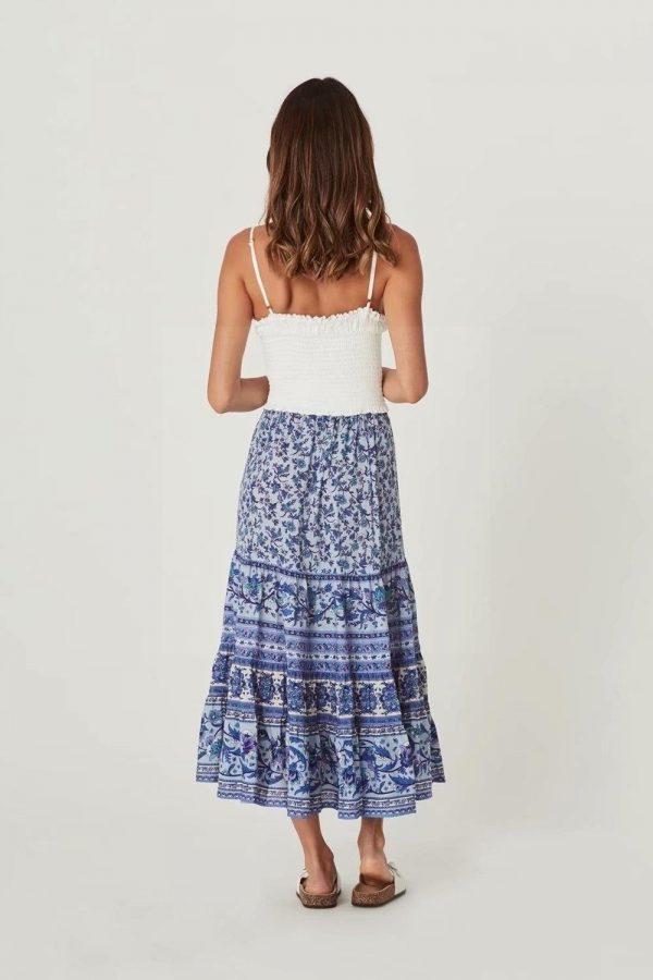 Blue Bohemian Skirt