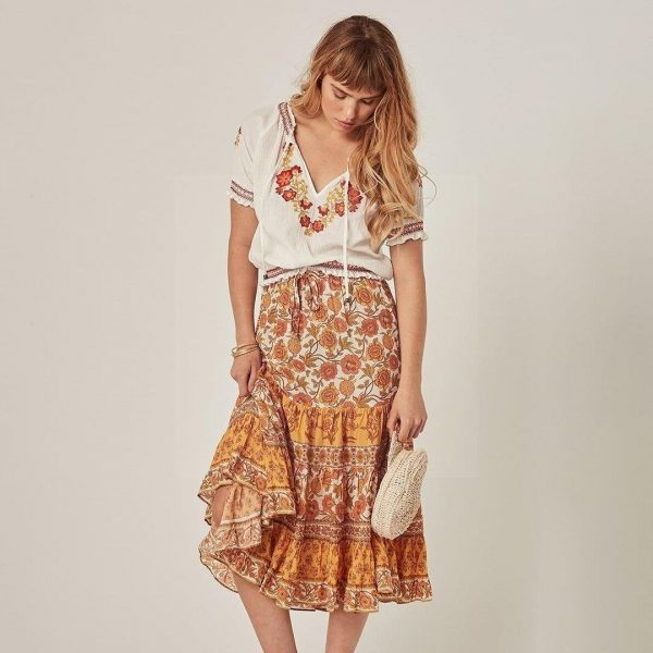 Bohemian skirt summer 2018