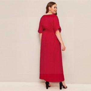 Dress boheme big size red