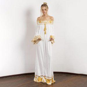 Bohemian winter long dress