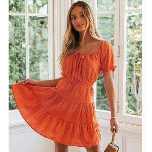 Bohemian dress orange