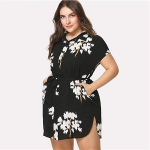 Dress boheme style big size floral