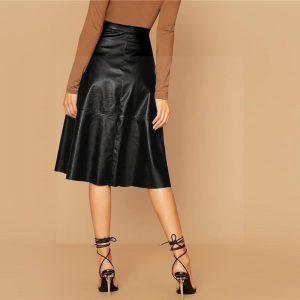 Mid-length bohemian skirt