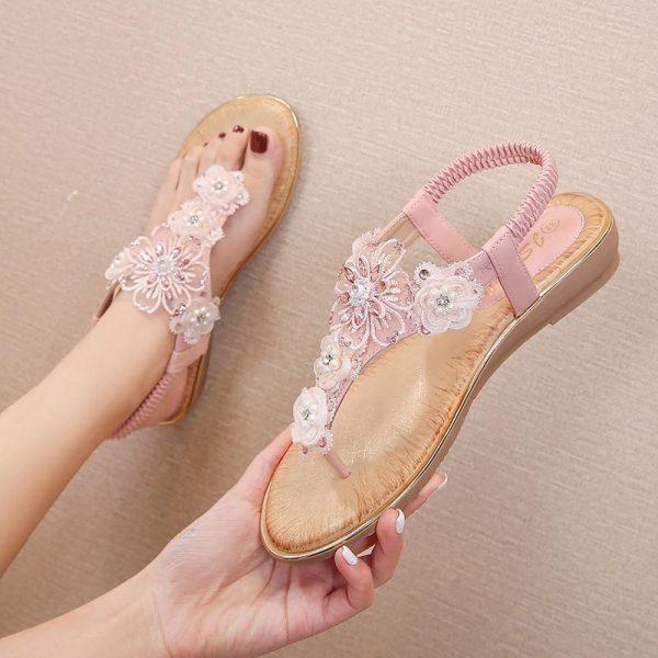Bohemian Chic Flower Jewelry Sandals