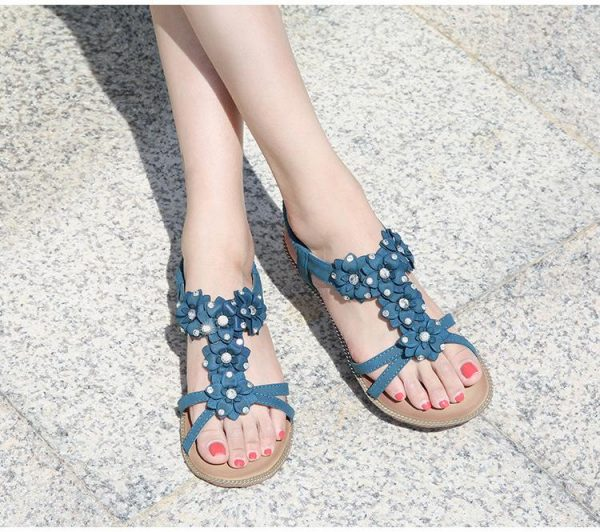 Bohemian Chic Small Flower Sandals