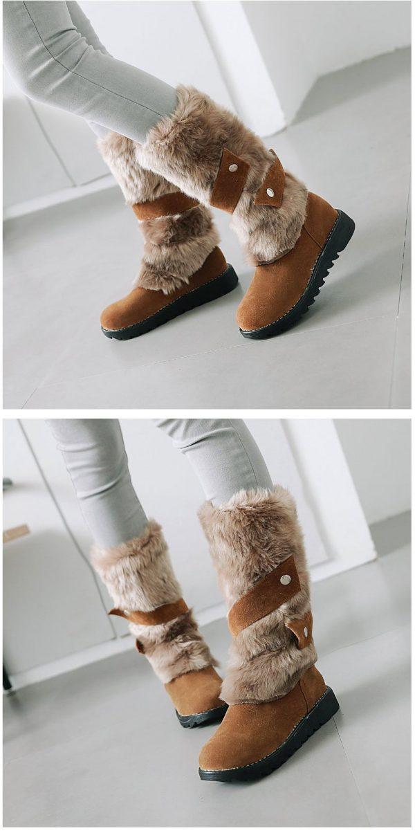 Bohemian Fur Boots