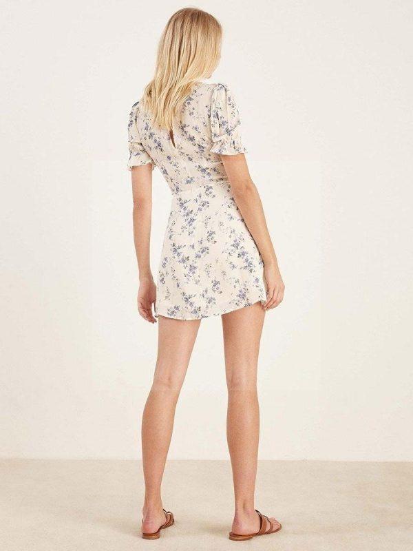White boho chic dress