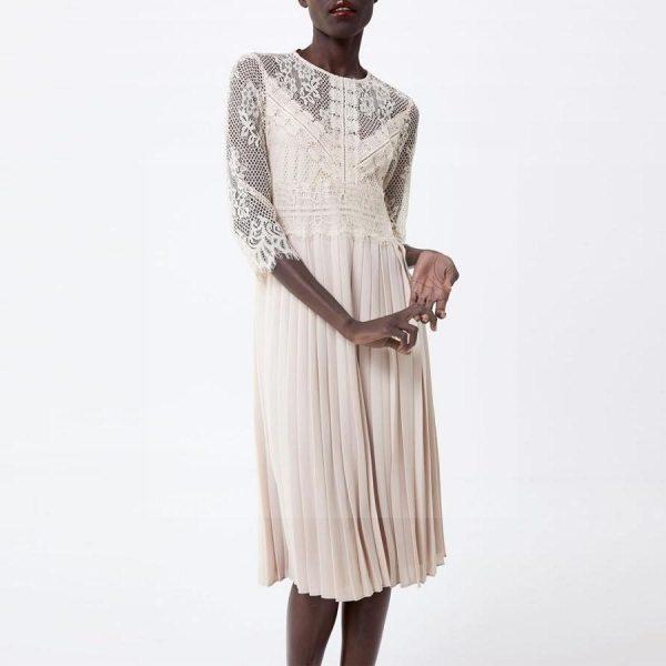 White lace dress boheme chic