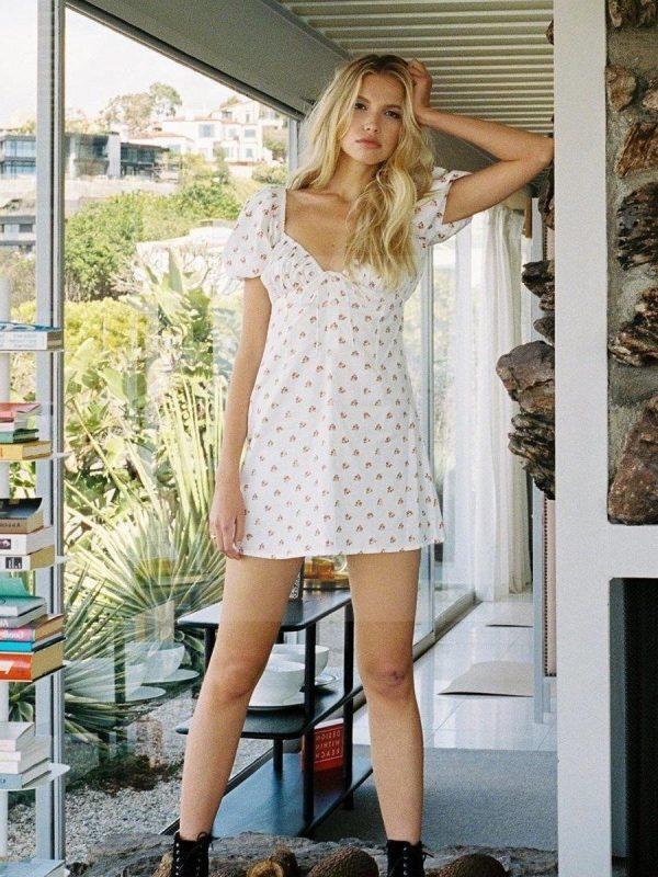 White hippie short dress
