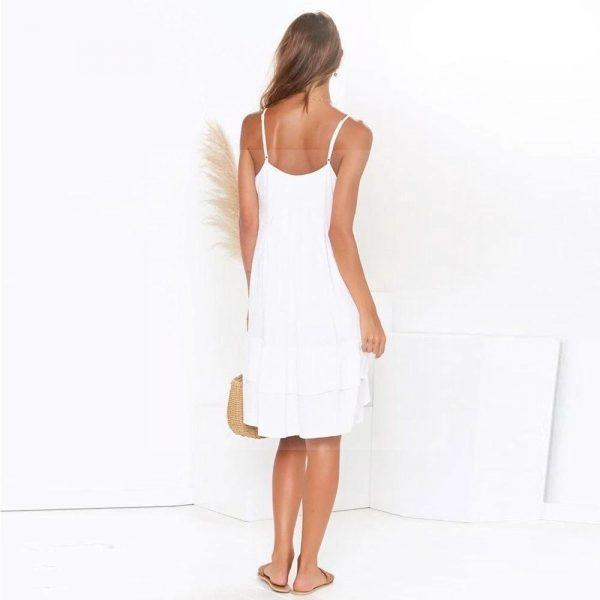 White dress bohemian chic style