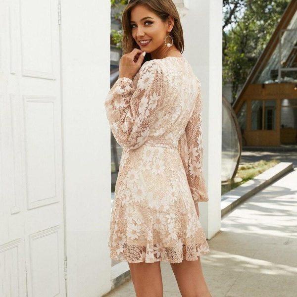 Dress bohemian chic beige