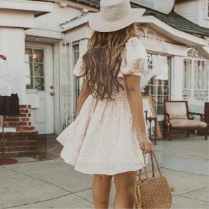Bohemian chic white dress