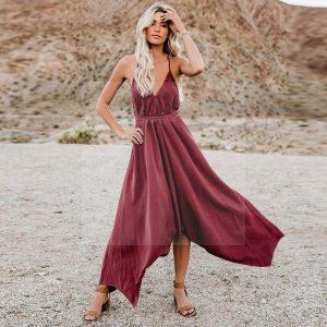 Bohemian chic designer dress