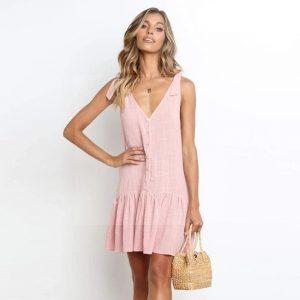 Bohemian chic pink dress