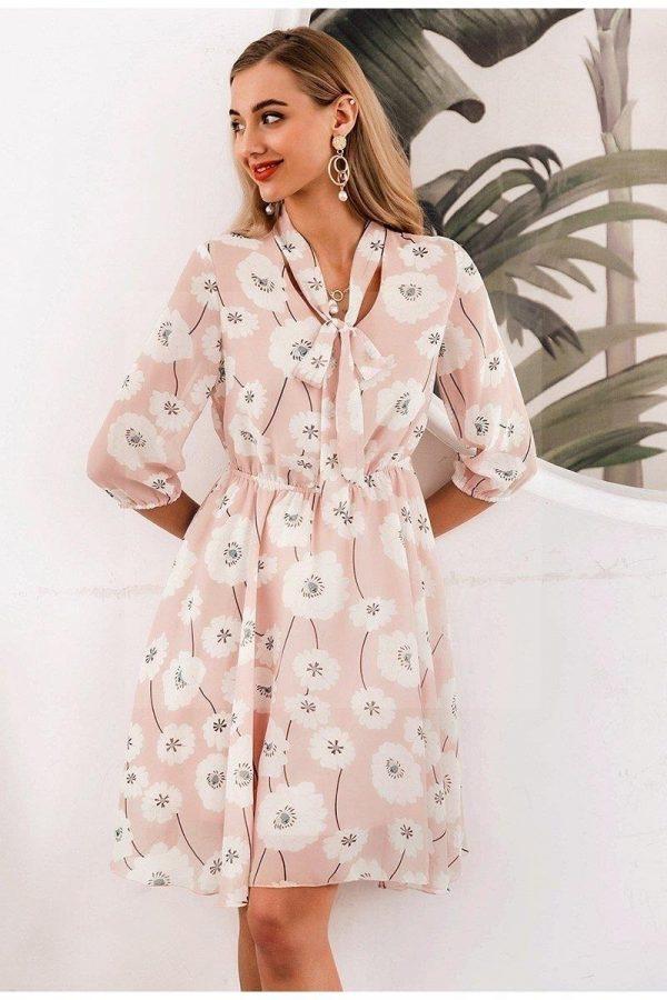 Bohemian chic pale pink dress
