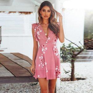 Powder pink bohemian dress