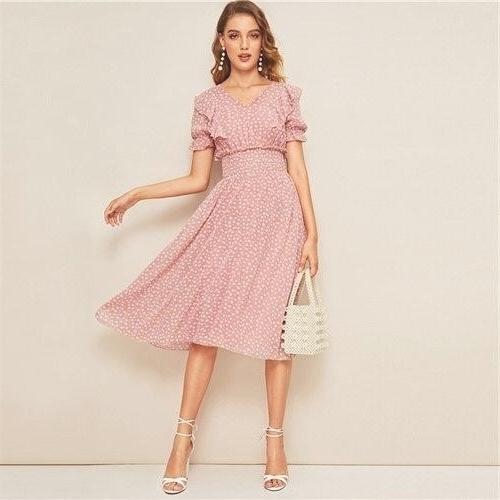 Dress boheme old pink