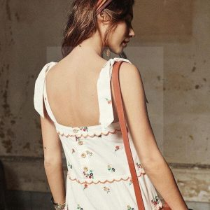 White hippie dress