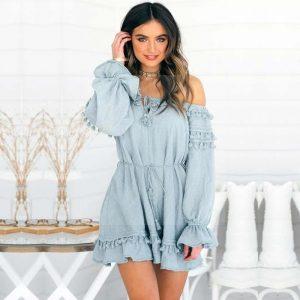 Hippie chic lace dress