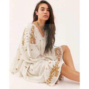 Hippie chic evening dress