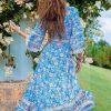 Bohemian retro maxi dress