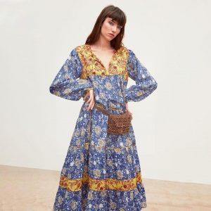 Bohemian chic winter maxi dress