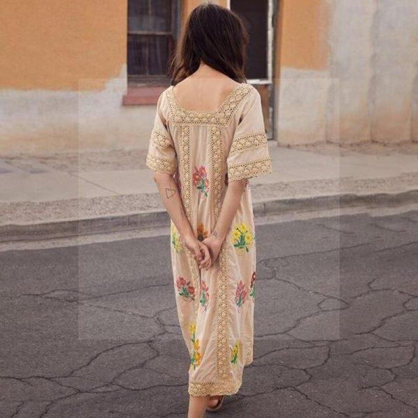 Bohemian chic long dress 2018
