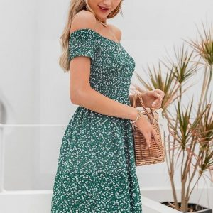 Bohemian chic theme dress