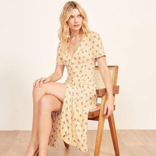 Bohemian dress short sleeve